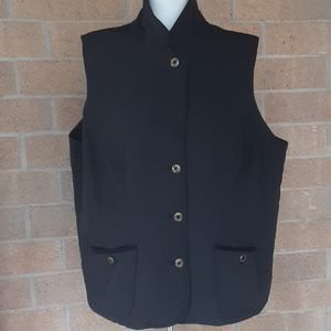 2x Talbots Woman black quilted vest
